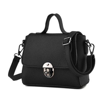 Women Shoulder Bags Small Crossbody Bag for Women Casual Soft Cover Messenger Bags Solid Black Women Leather Handbags Flap bolsa