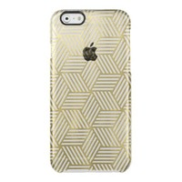 Golden Crazy Cubes Uncommon Clearly™ Deflector iPhone 6 Case