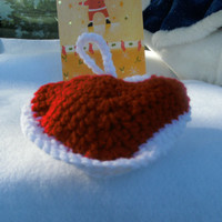 handmade crocheted heart ornament by CanadianCraftCritter on Etsy