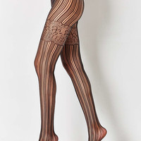Out From Under Open Work Faux Garter Tight - Urban Outfitters