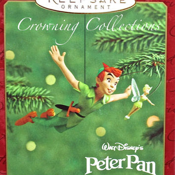 Hallmark Off to Neverland Disney Peter Pan and Tinker Bell Ornament Keepsake Tinkerbell Never Land MIB