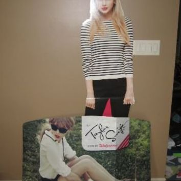 ***TWO*** Taylor Swift cardboard cutout displays life sized Walgreens promo