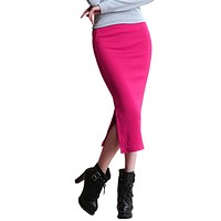 Chic Pencil Skirts Office Look knitting Mid-Calf