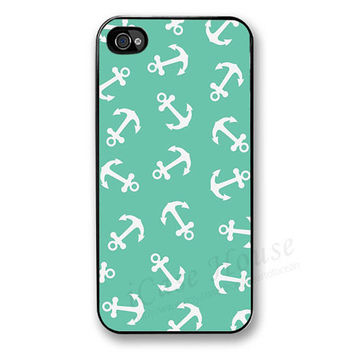 iPhone 4 Case , iPhone 4s Case,  iPhone 4g Case,  Plastic iPhone Hard Case- Anchor