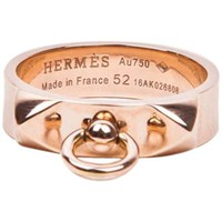"""Hermes Ring """"Collier de Chien"""" in Pink Gold Size 52FR - 6US"""