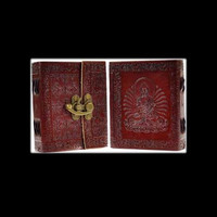 Buddha Genuine Leather Blank Journal with Latch