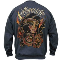 Men's America Sweatshirt by Black Market Art