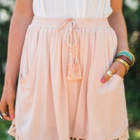 Georgia Peach Drawstring Skirt