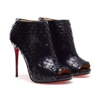 Browns fashion & designer clothes & clothing | CHRISTIAN LOUBOUTIN | 'Diplonana' leather peep toe ankle boots