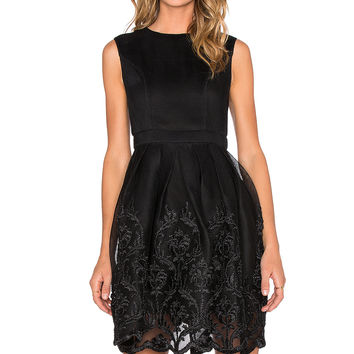 Bronx and Banco Isabelle Puff Dress in Black