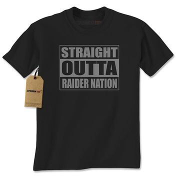 Expression Tees Straight Outta Raider Nation Mens T-shirt