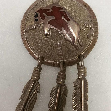 Lakota Sioux Buffalo medicine wheel amulet