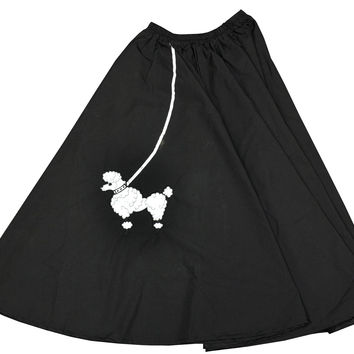 Poodle Skirt Black 1 Sz Adult