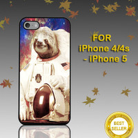 Dolla Dolla Bill Sloth Neil Amstong Astronot - Photo on Hard Cover - For iPhone Case ( Select An Option )