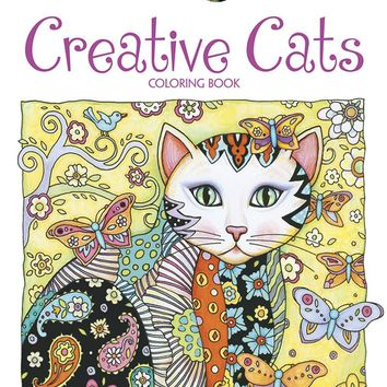 Creative Cats Adult Coloring Book