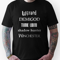 Fandoms: Wizard, Demigod, Time Lord, Shadow Hunter, Winchester Unisex