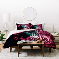 Caleb Troy Leopard Storm Pink Duvet Cover