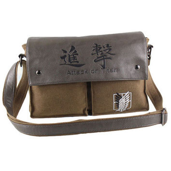 Attack on Titan Anime Bag - Brown Leather