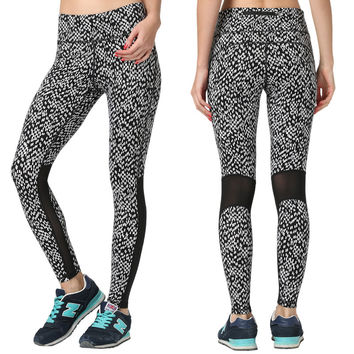 Outdoors Professional Sexy Mosaic Lace Stretch Yoga Gym Pants [6572469639]