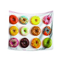 """""""Donut Love"""" Colorful Deserts Wall Tapestry"""