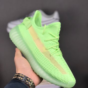 HCXX A1450 Adidas Yeezy Boost 350V2 Flyknit Fashion Running Shoes Fluorescent green