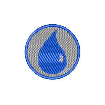 Buy 3 Get 1 Free - Embroidery Machine Design Magic The Gathering Blue Mana Symbol Filled
