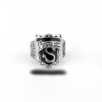 Hogwarts Slytherin House Crest Ring