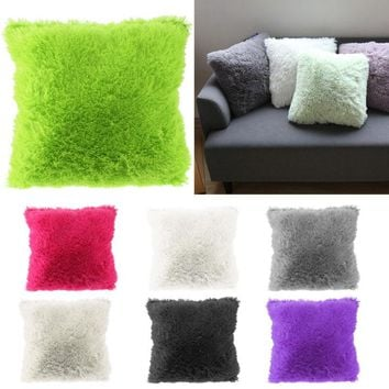 Soft Plush Faux Fur Cushion Covers Home Decorative Cushion Cover Throw Pillows For Sofa Car Chair Hotel Home Pillow Case Q971270