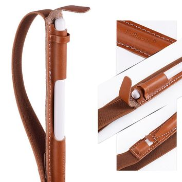 "Pencil Holder for Apple Pencil,  Genuine Leather for Apple Pencil Sleeve Handmade fit for tablets---Ipad Pro 9.7"" &10.5''Cases,"
