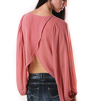 Fan Sleeves Top | Trendy Clothes at Pink Ice $34.99