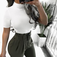 RESTOCKED! CLARA TURTLE NECK TOP (WHITE)