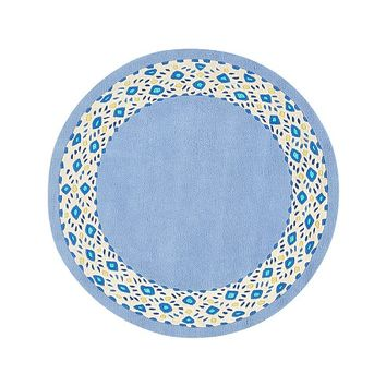 Lilly Pulitzer Carved Border Round Rug
