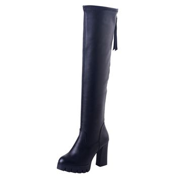Over The Knee Thigh High Stretch Boots