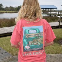 """*Closeout* Anna Grace """"Live Simply"""" on a Comfort Colors T-shirt"""