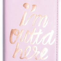 ban.do 'i'm outta here' Passport Case - Pink