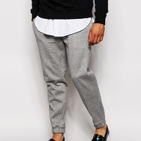 ASOS Slim Fit Smart Joggers In Marl Jersey