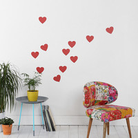 Heart Wall Decal - Set Of 11 - Urban Outfitters