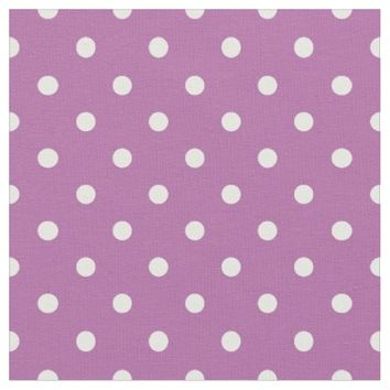Orchid Purple Polka Dot Pattern Fabric