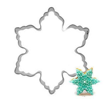 DCCKL72 New 2015 Plaque Cutter Cookie mould Frame Cake Snowflake Stainless Steel Mold cake decorations tools