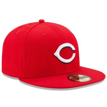 Mens New Era Cincinnati Reds Authentic On Field Home 59FIFTY Hat