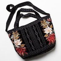 Johnny Was Womens Celestial Tote - Black One