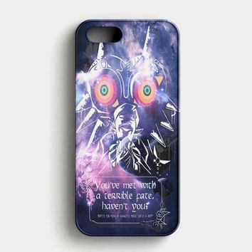 Majora Mask Legend Of Zelda Galaxy iPhone SE Case
