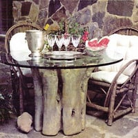 Tree Trunk for Cabin or Lodge Table Base, Indoor Use 29H - TAL614
