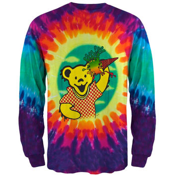 Grateful Dead - Ice Cream Bear Tie Dye Long Sleeve T-Shirt