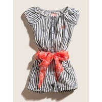 GUESS Kids Girls Striped Romper with Printed Sash $46.50