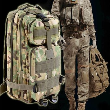 9 color 3P Outdoor Tactical Backpack 30L Military bag Army Trekking Sport Travel Rucksack Camping Hiking Trekking Camouflage Bag