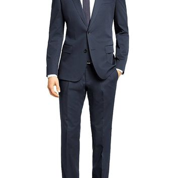 'Huge/Genius' | Slim Fit, Stretch Cotton Blend Suit by BOSS