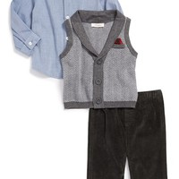Infant Boy's Miniclasix Sweater Vest, Shirt & Pants Set