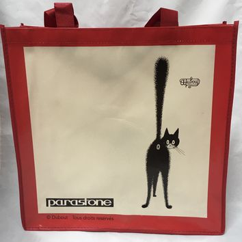 Reusable Shopping Bag Dubout Cat Drawings on both sides 16H