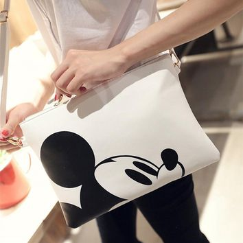Women Hello Kitty Messenger Bags Minnie Mickey Bag Leather Handbags Clutch Bag Bolsa Feminina